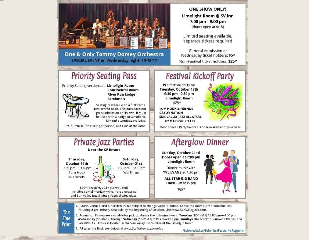 Sun Valley Jazz Brochure 2017