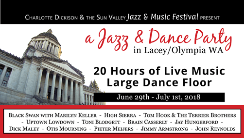 Olympia, Washington A Jazz & Dance Party June 29 - July 1, 2018