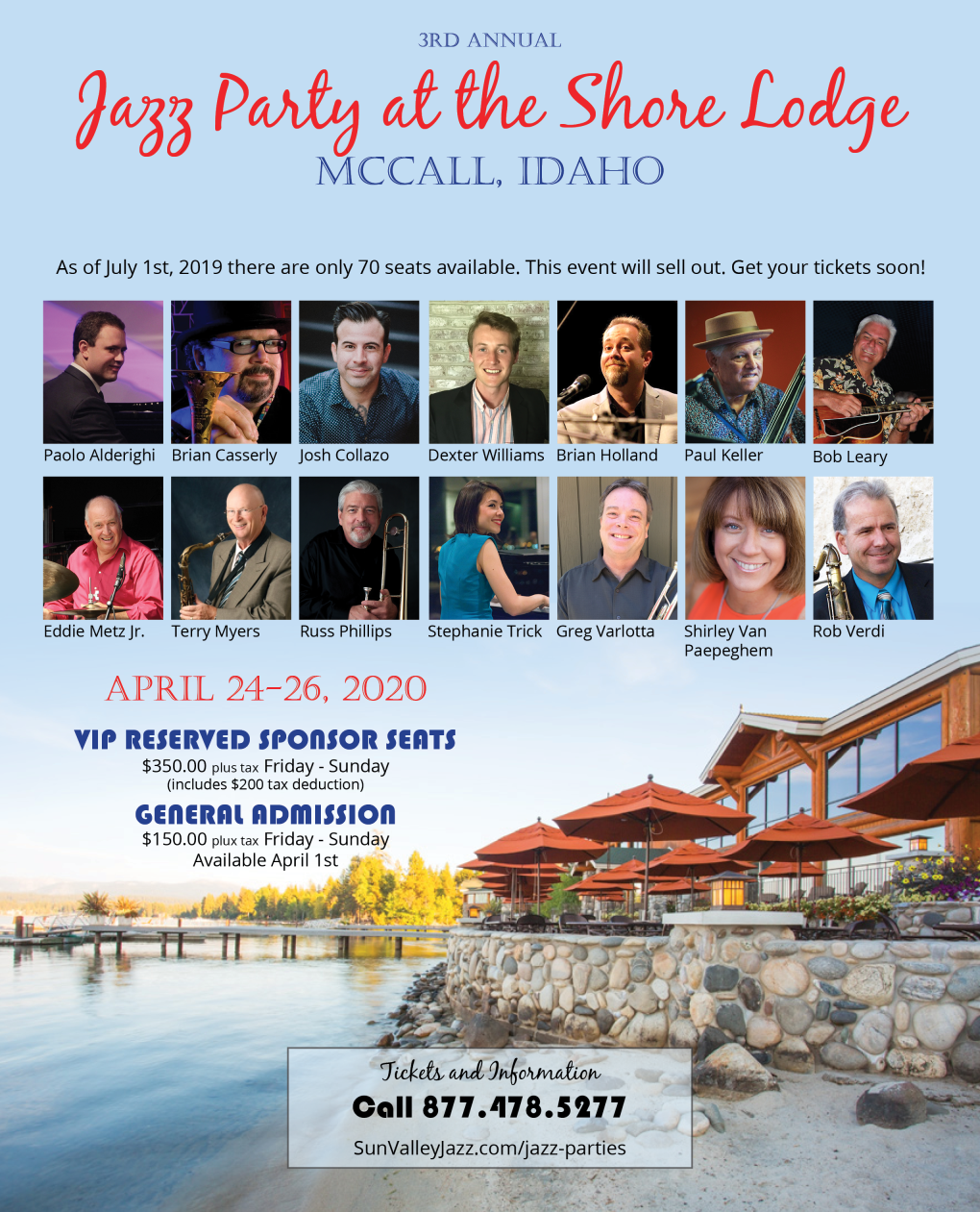Jazz Party at the Shore Lodge McCall, Idaho